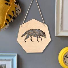 Geometric Wolf Artwork