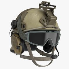 Ballistic Combat Helmet Model available on Turbo Squid, the world's leading provider of digital models for visualization, films, television, and games.