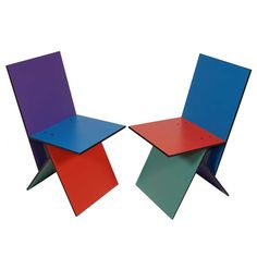 Pair of Vilbert Chairs by Verner Panton   From a unique collection of antique and modern chairs at http://www.1stdibs.com/furniture/seating/chairs/
