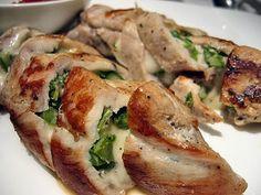 Bacon & Spinach Stuffed Wild Turkey Breast....um did u say bacon?!