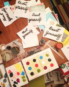 """""""State of the studio: some lettering practice and a sketchbook spread."""""""