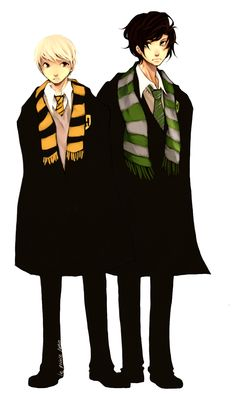 sweet and shrewd by le-prince-lutin.deviantart.com You guys, this is me and my boyfirend and all my other friends. Everyone is a Ravenclaw or Slytherin, and I'm the Hufflepuff sidekick.