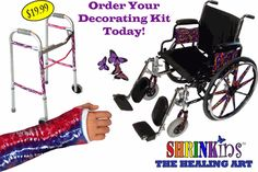 Decorate Wheelchairs, Walkers, Crutches, Canes, Casts and more!