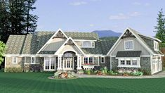 Shingled Showstopper with Angled Garage - 14622RK - 25