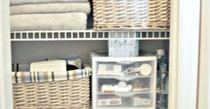 Great ideas on how to store and keep medicines/pharmacy items hidden yet completely functional and organized. Come take a look at how I organize my linen closet…