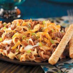Hamburger Noodle Casserole Recipe | Taste of Home Recipes