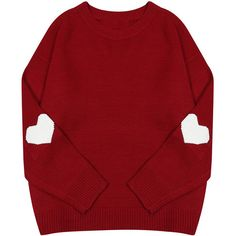 Heart Jumper (770 UAH) ❤ liked on Polyvore featuring tops, sweaters, clothing - ls tops, red heart sweater, red sweater, red top, heart tops and jumper top