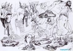 이미지 사이즈 : 738 x 522 Figure Sketching, Figure Drawing, Cute Drawings, Drawing Sketches, Junggi Kim, Human Sketch, Black And White Sketches, Kim Jung, Drawing Practice