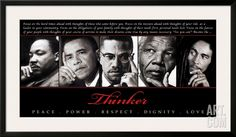 Thinker (Quintet): Peace, Power, Respect, Dignity, Love