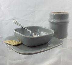 Breakfast set Soup or cereal bowl. luncheon by EastburnOriginals