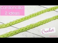 How to crochet a cord Crochet Cord, Crochet Stitches, Crochet Patterns, Cordon Crochet, Mochila Crochet, Romanian Lace, T Shirt Yarn, Crochet Videos, Handmade Beads