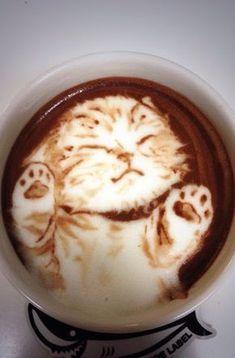The Most Satisfying Cappuccino Latte Art - Coffee Brilliant Coffee Latte Art, I Love Coffee, Coffee Cafe, Coffee Break, My Coffee, Coffee Drinks, Coffee Shop, Cappuccino Art, Coffee Corner