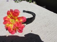 Hair Accessory: Glitter Flower Headband Hair Bow Craft Tutorial - YouTube #glitter