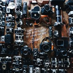 """""""I felt a little unfair yesterday when I uploaded a picture of some of my more used cameras, and not the whole kit-n-kaboodle (I think that's how that…"""""""