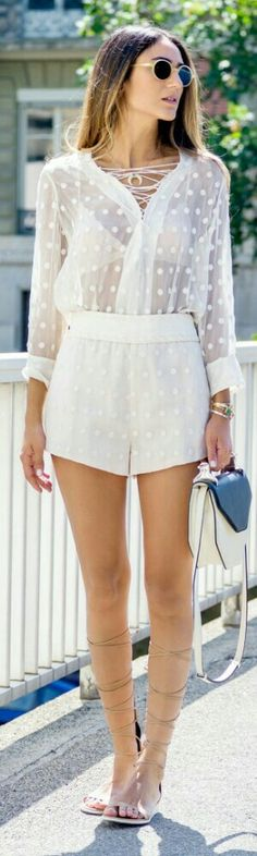One of the cutest sheer rompers we've seen! To 'colour it up' some more, team it with soft tones of orange, blues and purples underneath. Check out a great range of camis at sheathbeneath.com $54.95