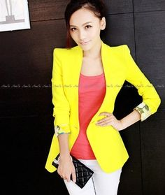 Images of Yellow Blazer For Women - Reikian