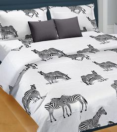 Black And White Printed Satin Double Bed Sheet With Two Pillow Cover #indianroots #homedecor #bedsheets #pillowcover #satin #printed