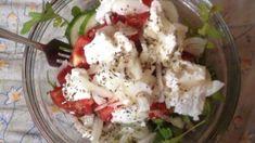 Овощной салат с фетой, рукколой и заправкой на лимонном соке, пошаговый рецепт с фото