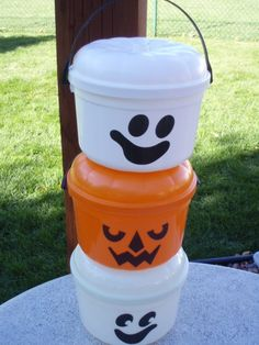 Boo Bucket-These were from McDonald's when they still had good toys! Wow so sad the toys that they have now. I remember getting one of these