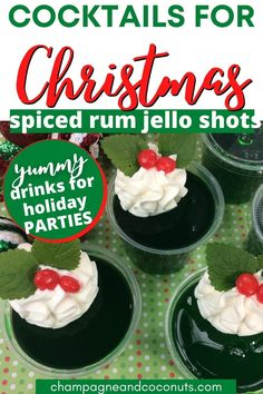 These Spiced Rum Rum Cocktail Recipes, Cocktail And Mocktail, Whiskey Cocktails, Rum Jello Shots, Jello Shot Recipes, Drink Recipes, Yummy Shots, Yummy Drinks, Spiced Rum