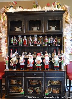 Kitchen Decorated for Christmas -Tour a Beautiful Victorian Home Decorated for Christmas, Part III