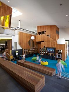 Image 12 of 22 from gallery of Bendigo Library / MGS Architects. Colour Architecture, Education Architecture, Interior Architecture, Australian Interior Design, Interior Design Awards, Kids Library, Library Design, Library Ideas, Cubby Houses