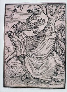Hans Holbein, the Younger (German, 1497 or 1498–1543), Hans Luetzelburger (German, 1522) The Abbot (Dance of Death) | Museum of Fine Arts, Boston