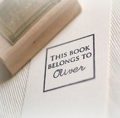 Any book lovers out there? #Personalised 'This Book Belongs To' #Stamp, £12.95 #gift