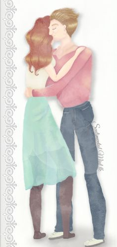 I Missed You  #pareja #couple #love #amor #dibujo #draw #ilustracion #ilustration #sketch #cute #kawaii #watercolors #acuarelas  #missed #extraño #novios #boyfriend #girlfriend #happy #feliz #abrazo #instalove #inlove #enamorados #pasion