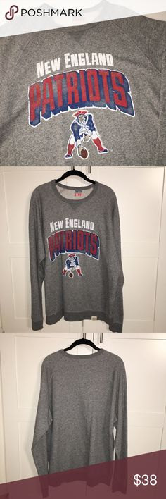 New England Patriots Crewneck Junk food brand Patriots crewneck sweatshirt! Great condition, amazing price!   I'll only consider offers made with the offer button.💰 No trades or low ball offers.🚫 My items are already extremely discounted &  sell very fast. So, if you see something you like... make an offer! 😋  Thanks for looking around my closet! 💖🎀👗👛👠💄  BUNDLE & SAVE 10%!  Top RATED SELLER // SUGGESTED USER ✨ Junk Food Sweaters Crew & Scoop Necks