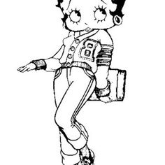 betty boop betty boop going to college coloring page betty boop going to college