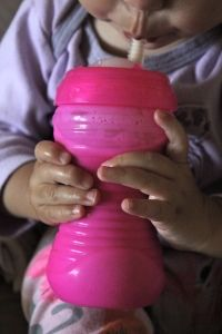 Toddler Shake. 1 cup milk, 1/4 cup yogurt, 2 tbs almond butter. 330 calories. Great source of protein for picky eaters.