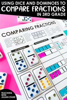 Third Grade Math Games, Fifth Grade Math, Fourth Grade, Grade 3 Math Worksheets, Math Fraction Games, Fraction Bars, 4th Grade Activities, Math Tutor, Teaching Math