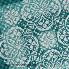 Gracewood Stitches - Traces of Lace - Shades of Jade zoom 1 (cross stitch chart)