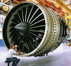 Truly a thing of beauty.  The next time you fly, be assured that there are parts on your jet engine that I inspected, and you are safe.