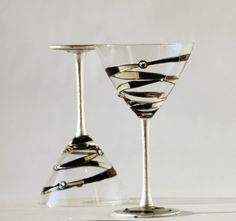 martini spiral glasses