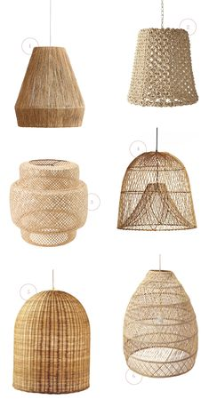Trend: Basket Lighting Baskets are everywhere! And I mean, everywhere… all the way up to our ceilings. If you have yet to get caught up in the basket lighting tr. Boho Lighting, Basket Lighting, Pendant Lighting, Ikea Lighting, Rattan Pendant Light, Home Decor Baskets, Basket Decoration, Estilo Tropical, Scandinavian Home