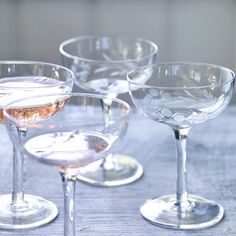 Dillie Champagne Saucers, Set of Four