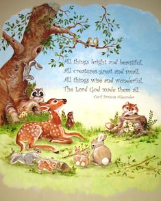 woodland creature nursery | All Things Bright and Beautiful | | Cathie's MuralsCathie's Murals
