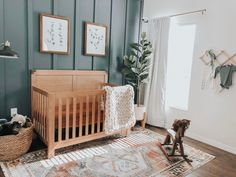 Gender neutral nursery Earthy inspired baby nursery with natural woods and subtle colors. Baby Bedroom, Baby Boy Rooms, Baby Room Decor, Baby Boy Nurseries, Baby Boys, Our Baby, Modern Nurseries, Neutral Nurseries, Baby Boy Nursery Themes