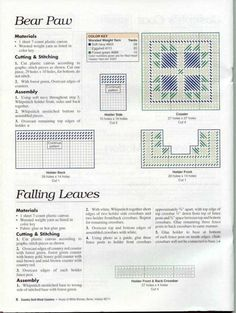 COUNTRY QUILT BLOCK COASTERS PG 7