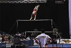 Rarely Done E Rated Bars Dismount (GIF) « WOGymnastika