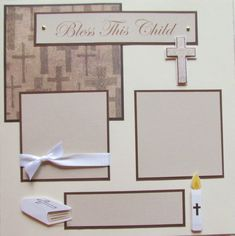 Premade Scrapbook Pages - baby girl layout - BaPTiSM, christening, DeDiCaTioN, blessing, celeb Friend Scrapbook, Baby Girl Scrapbook, Baby Scrapbook Pages, Birthday Scrapbook, 12x12 Scrapbook, Wedding Scrapbook, Scrapbook Page Layouts, Scrapbook Albums, Scrapbooking Ideas