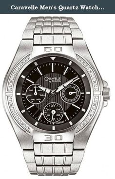 Caravelle Men's Quartz Watch 43E000. Caravelle, Diamond, Men's Watch, Stainless Steel Case, Stainless Steel Bracelet, Quartz (Battery-Powered), 43E000.