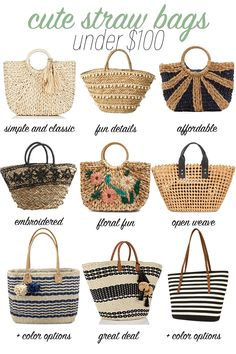 Women S Fashion Boutique Cheap Pretty Handbag You Gotta Have for Preppy Outfits Latest Night Out Womens Fashion :) Newest Feminine stylish inspiration. Fashion Handbags, Purses And Handbags, Fashion And Beauty Tips, Basket Bag, Open Weave, Summer Bags, Preppy Outfits, Spring Trends, Handmade Bags
