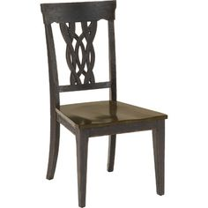Hillsdale Lafayette Center Panel Wood Seat Dining Chair - Set of 2 - Dining Chairs at Hayneedle Table And Chair Sets, Dining Chair Set, Dining Room, Dining Table, Furniture Board, Hillsdale Furniture, Side Chairs, Cool Kitchens, Wood