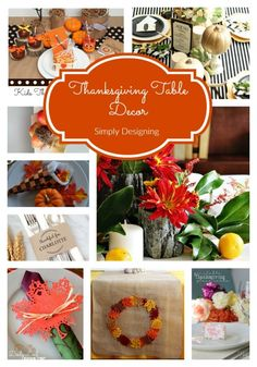 I love having a beautiful table for Thanksgiving! So today I am sharing several beautiful and totally doable Thanksgiving Table Decor ideas!