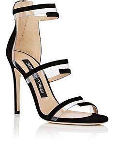 Sergio Rossi Suede & PVC Multi-Strap Sandals - Heels - 505196854