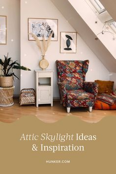 From apartments to playrooms to home offices, attics can be much more than overflow storage space. Read on for seven attic space skylight ideas that are the perfect combo of sunny and stylish. #hunkerhome #attic #atticideas #atticskylight #skylightideas
