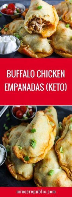 Buffalo Chicken Empandas Recipe (Keto)   #keto #lowcarb #gameday   mincerepublic.com paleo dinner easy #LiverDetoxDietitianApproved